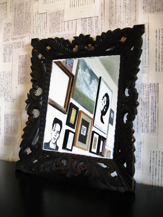 JAPANESE Deco Wooden Mirror