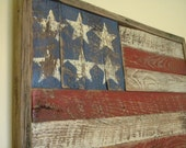 Rustic Barn Wood American Flag