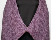 Purple Knit Shawl