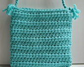 RESERVED Crocheted bag/purse - small size in mint green