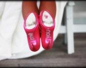 """Bottom of Wedding Shoe """"You and Me"""" Rhinestones"""