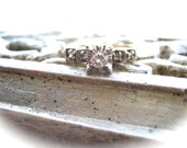 Gorgeous Vintage 14K Yellow and White Gold Diamond Engagement Ring