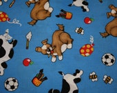 Playful Pup Fabric
