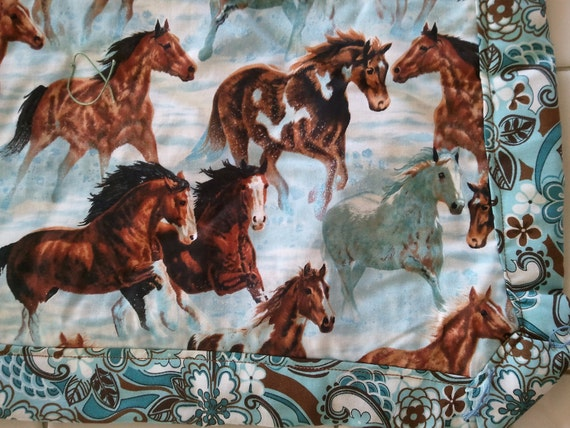 Running Horses Baby Quilt