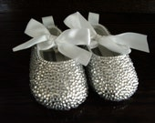 Reserved for Shannon - Crystal Baby Shoes - Size 3