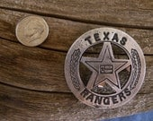 Texas Rangers Flag Badge with pin back
