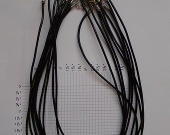 100 Plain round leather cords for necklaces 18""