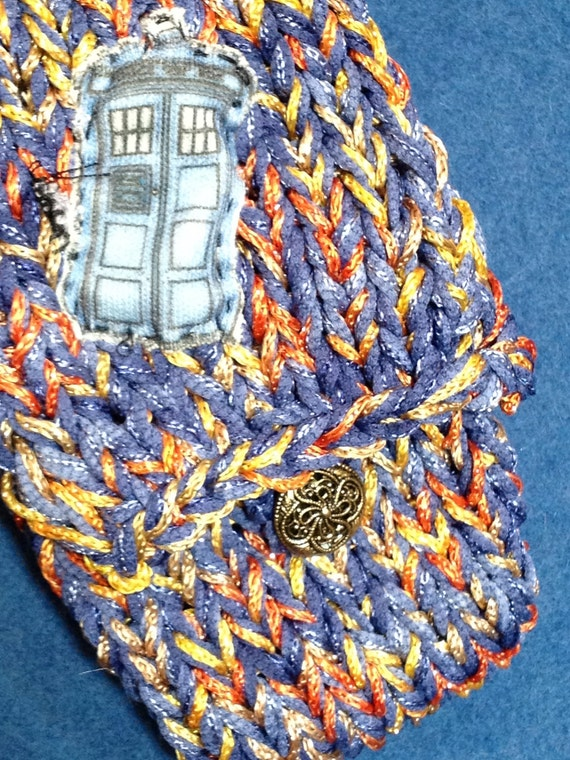 Knit Time Vortex TARDIS Doctor Who Purse