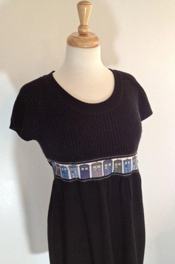 Black Everyday TARDIS Doctor Who Dress