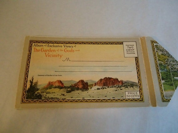 Vintage Postcards, The Garden of the Gods and Vicinity