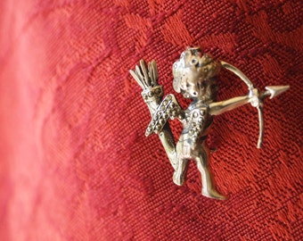 Sterling Silver Cupid Pin