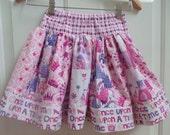 Princess Skirt Girls Summer Skirt. Girls Skirt. Toddler Ruffle skirt. Twirly Skirt. Toddler skirt. Michael Miller Princess Fabric
