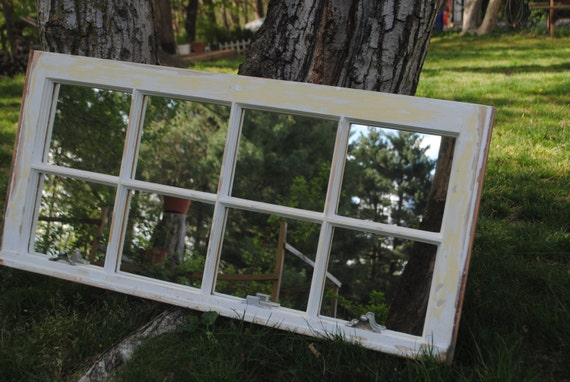 Vintage Window Mirror