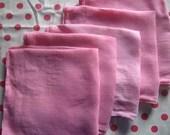 Girly-twirly cupcake pink napkins