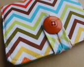 Basic Bifold Wallet - Bright Chevron Stripe