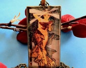 "Necklace Pendant-""Morning Star"" rendition of Alphonse Mucha"