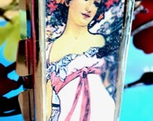 "Pill box-""Moet and Chandon White Star Champagne"" by Mucha"
