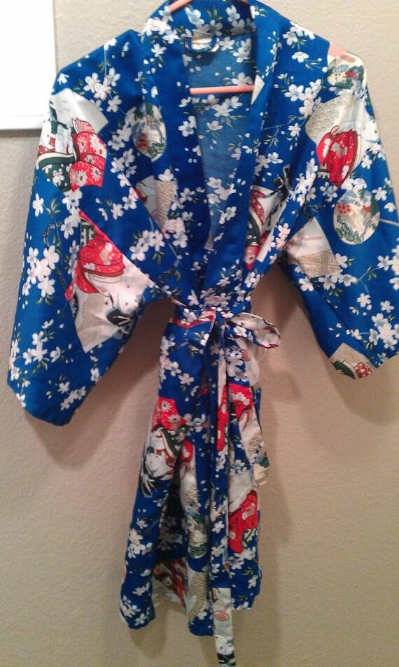 Kimono Style Silk Robe