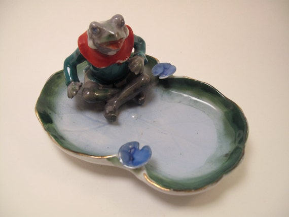 Occupied Japan Frog Ashtray