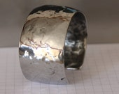 Hammered Stainless Cuff Bracelet