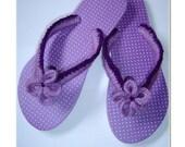 Flip Flops - crocheted - flower flip flops