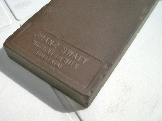 Barber Hone : Vintage Three Line Franz Swaty Barbers Hone by ToysNwhatNot