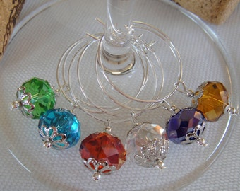 Swarovski Crystal Wine Charms Set of 6