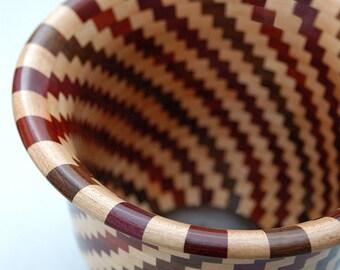 Segmented Spiral Design In Maple, Black Walnut, Purpleheart & Bloodwood FB6100