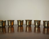 Vintage Brass Candle Holders - Set of 6