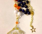 Sailor Venus pendant beaded necklace (Gold)