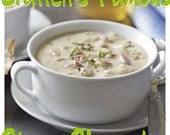 Bratten's Favorite Homestyle Clam Chowder Recipe. classic diner food, delicious, creamy, soup, comfort, seafood, ocean.