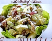 The Waldorf Austoria - The One & Only Waldorf Salad, classic diner food, delicious, apples, pecans, nuts, dressing.