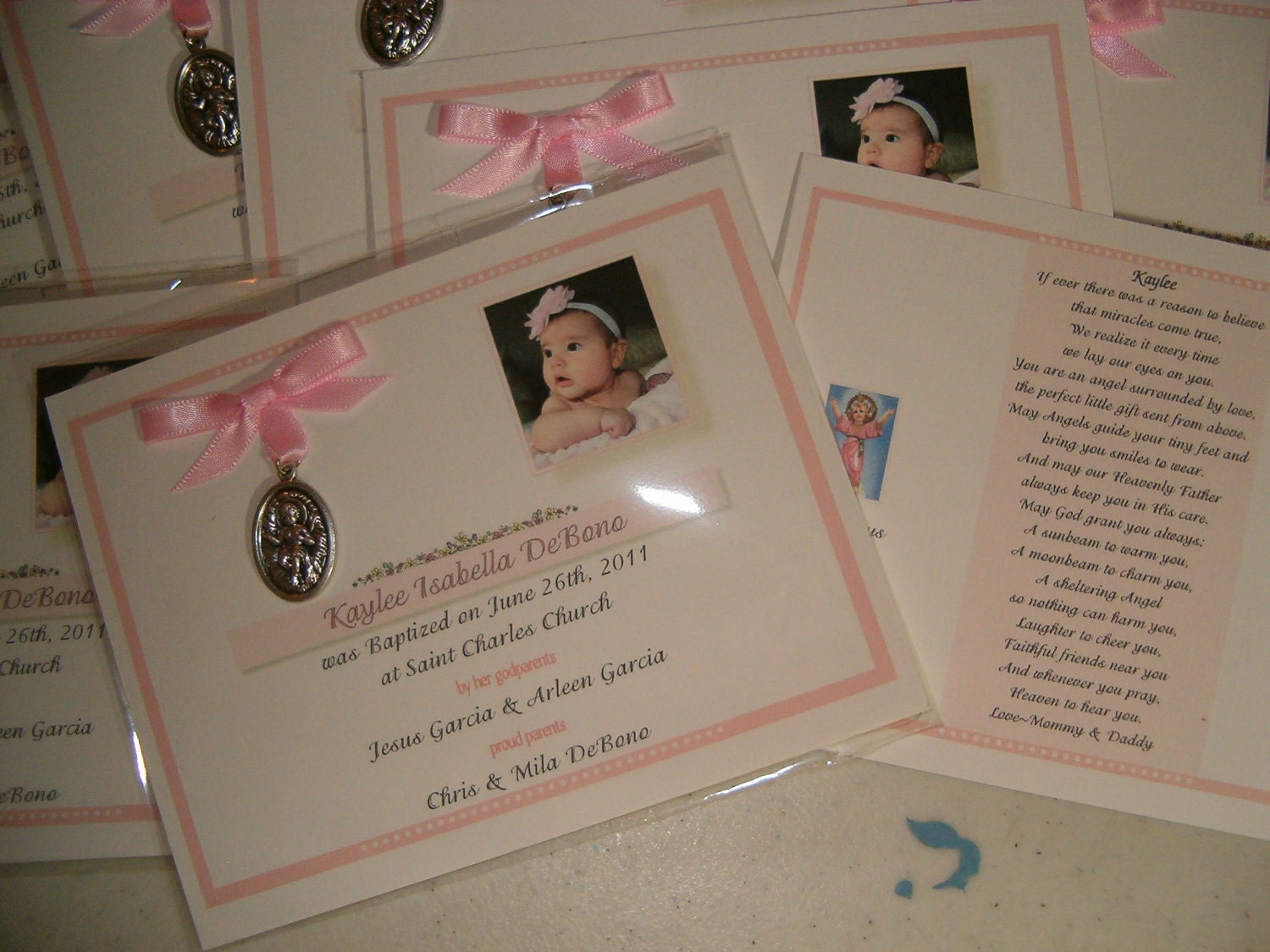 25 baptism favors medal cards personalized by annthompson121 - Giveaways baptism ...