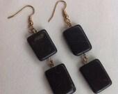Multi-Marble Rectangle Bead Earrings