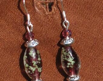 Amethyst Lampwork & Fire-Polished Czech Glass Bead and Silver Earrings, Purple Jewelry, Purple, Graduation Gifts, Gifts for Grads