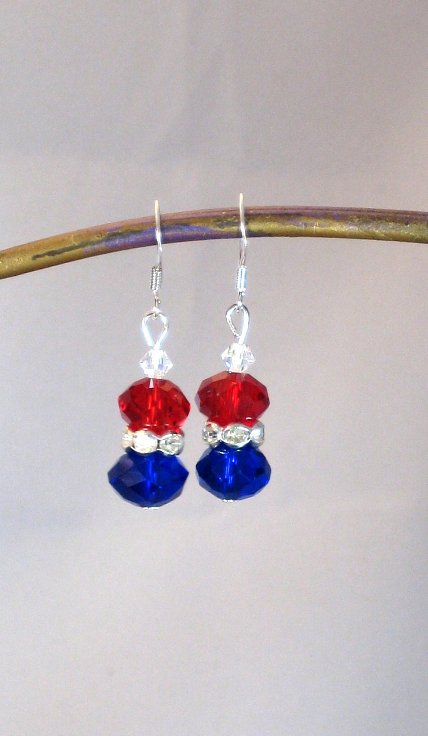 4th of july earrings white blue earrings fourth of july patriotic 5259