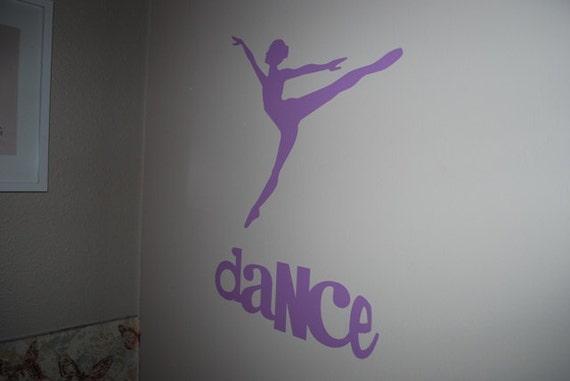Ballet Decal - Dancer Vinyl Wall Decal - Ballerina Decal - Removable Decor for Bedroom - Dance Vinyl Wall Lettering - Dancer Silouhette