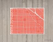 "Portage Park Chicago Illinois Map Print 8.5"" x 11"""