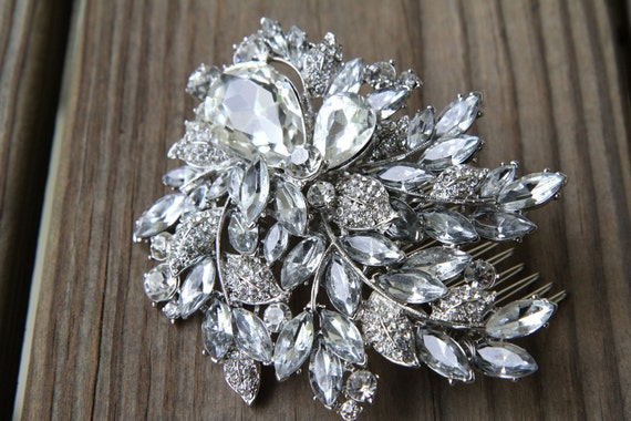 Bridal Hair Comb-- Swarovski Crystal--Bridal Hair Accessories
