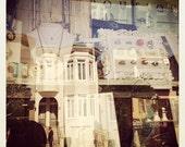 Window Shopping - Abstract, Vintage, Antique, Street, San Francisco, Shop - 5x5 Fine Art Photography Print