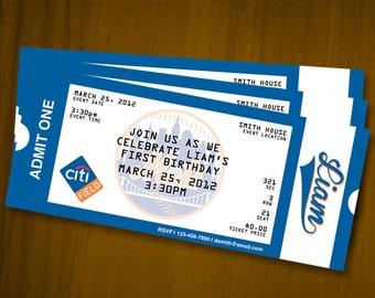 Sports Ticket Birthday Invitations / Digital File / You Print