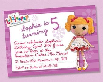 Lalaloopsy Birthday Invitations / Digital File / You Print