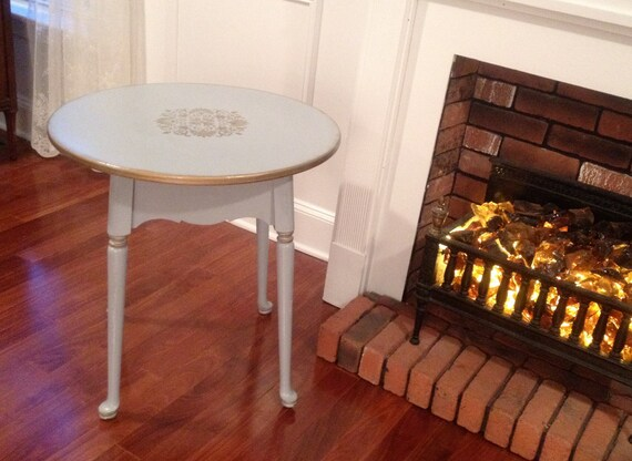 Hand-painted French Country Corner Table