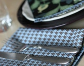 Reversible Fabric Napkins to be washed and used again and again. Set of 4.  FREE US SHIPPINGModern designs