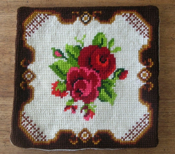 Tapestry roses cushion / pillow cover