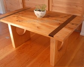 Sculptural Wood and Steel Table. Kitchen table