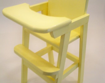 Doll Highchair, Wood Doll High Chair,  Doll Furniture,Wooden Doll High Chair, Doll High Chair, Doll Accessories