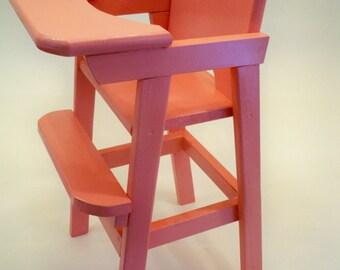 Doll High Chair,Doll Highchair, Wood Doll Highchair,Doll Furniture, Baby Doll High Chair