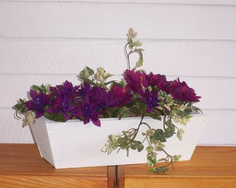 Rustic Style Flower Box, Window Planter, Window Box ,Center Piece, Indoor Flower box,Outdoor Flower Box ,Country center piece