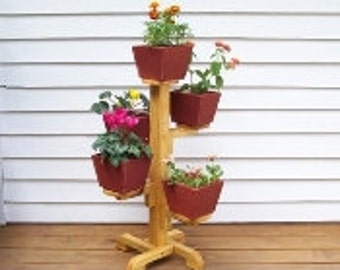 Five Pot Flower Stand, Indoor Flower Pot Stand, Patio Flower Pot
